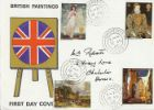 British Paintings 1968 Union Flag on easel