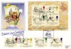 27.09.1988 Edward Lear: Miniature Sheet Stamps & Miniature Sheet on one cover Bradbury, LFDC No.72