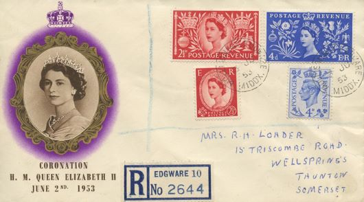 Elizabeth II Coronation, Stamps of King and Queen
