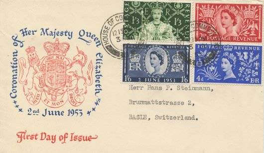 Elizabeth II Coronation, House of Commons Postmark