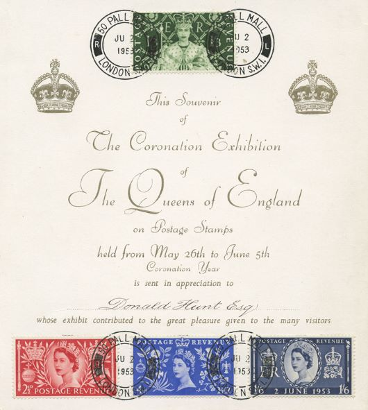 Elizabeth II Coronation, Coronation Stamp Exhibition