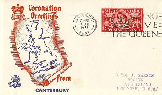 Elizabeth II Coronation, Greetings from Canterbury