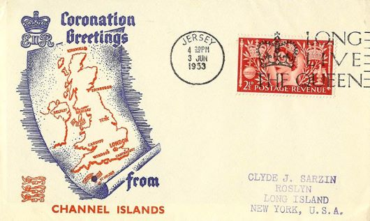 Elizabeth II Coronation, Greetings from Channel Islands