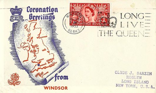 Elizabeth II Coronation, Greetings from Windsor