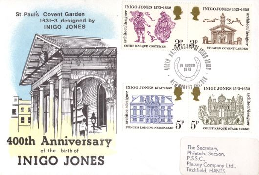 Inigo Jones St Paul 39 S Covent Garden First Day Cover Bfdc