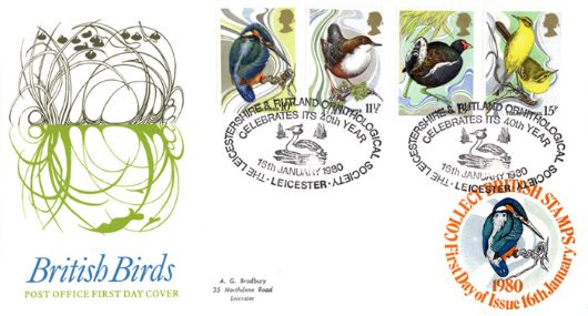 British Birds 1980, Collect British Stamps