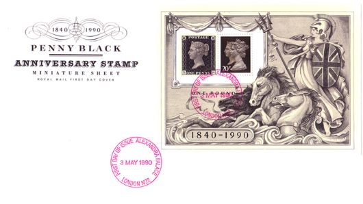 Penny Black: Miniature Sheet, Penny Black Anniversary 1840-1990