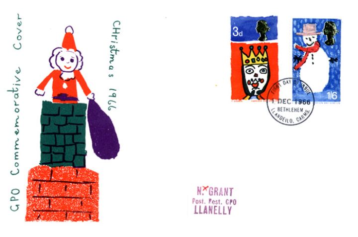 Christmas 1966, Britain's First Christmas Stamps