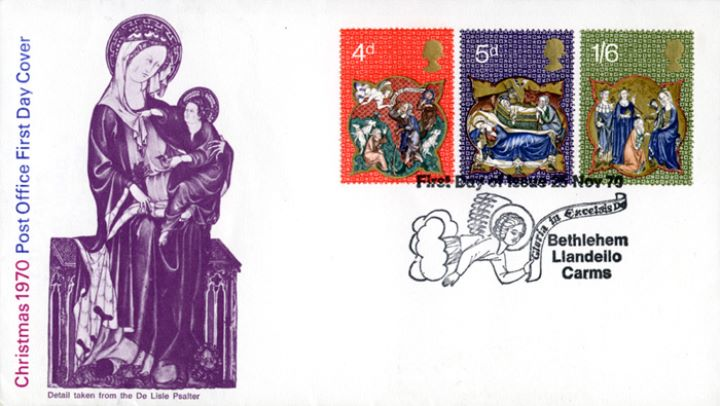 Christmas 1970, Detail from De Lisle Psalter