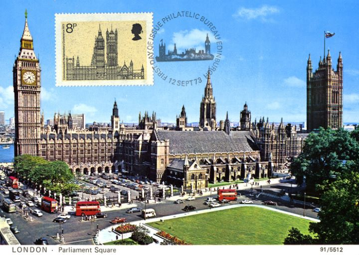 Parliament 1973, Parliament by day - Postcard