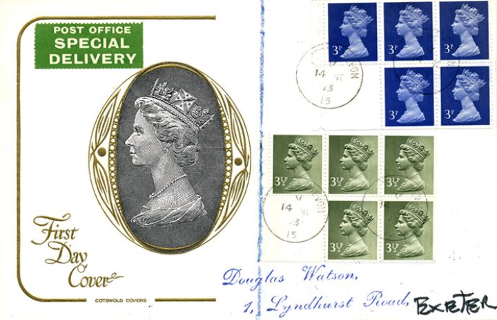 Stitched: New Design: 50p Canada Life (Moss-green), H M The Queen