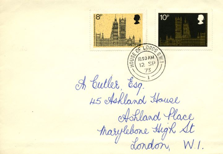 Parliament 1973, Lords Official Stationery