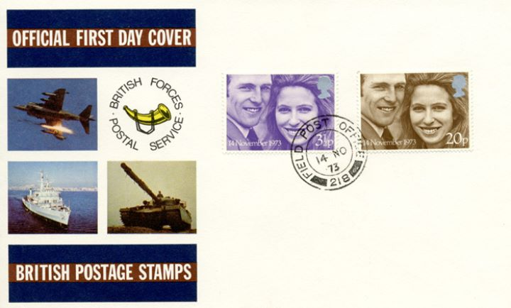 Royal Wedding 1973, British Forces Postal Service
