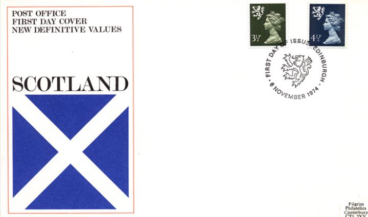 Scotland 4 1/2p Dark Blue, Flag of St. Andrew