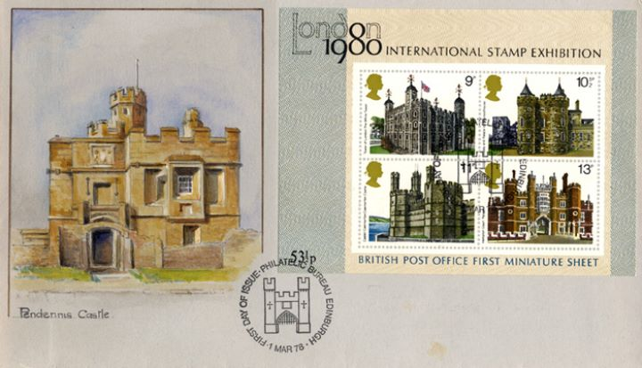 Historic Buildings: Miniature Sheet, Pendennis Castle