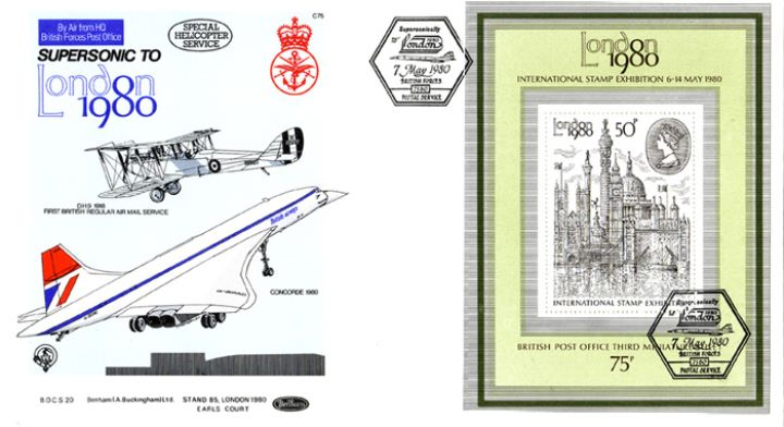 London 1980: Miniature Sheet, Concorde