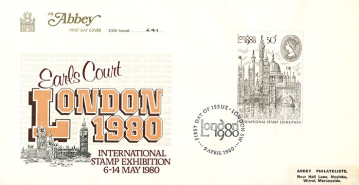 London 1980: 50p Stamp, Houses of Parliament