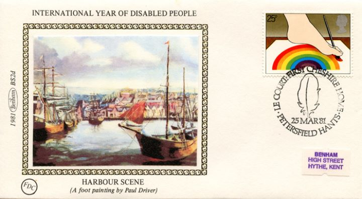 Year of the Disabled, Foot painting of harbour scene