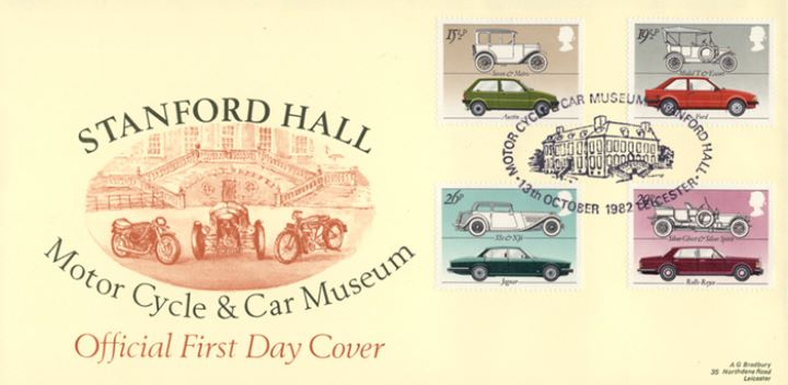 British Motor Cars First Day Cover Bfdc