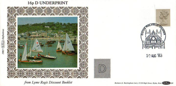 Counter: New Design: £1.45 Countryside 1 (Lyme Regis), Lyme Regis Harbour