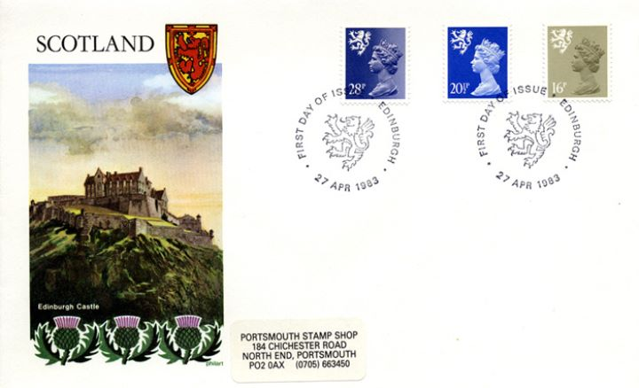 Scotland 16p, 20 1/2p, 28p, Edinburgh Castle