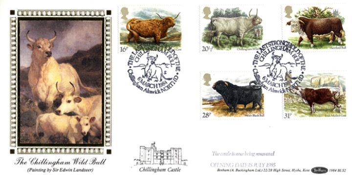 British Cattle, Chillingham Wild Bull by Edwin Landseer