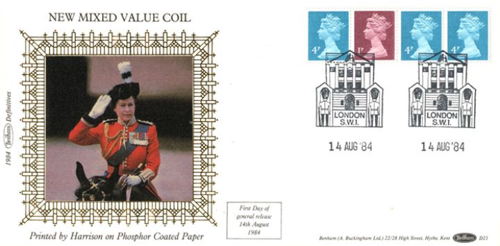 Machins: 13p Readers' Digest Stamp Coil, Trooping the Colour