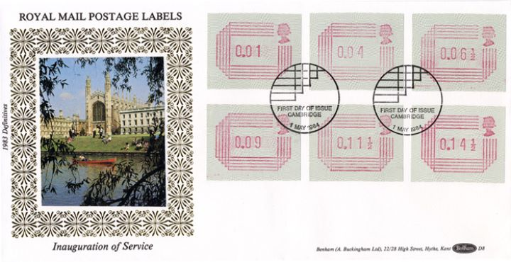 32 values 1/2p to 16p [Frama Labels], Cambridge