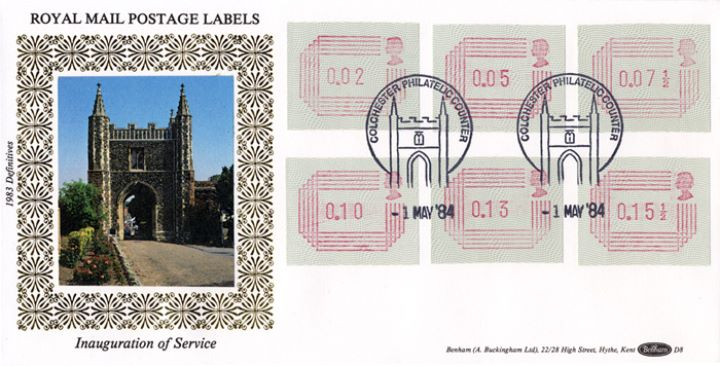 32 values 1/2p to 16p [Frama Labels], St. John's Abbey