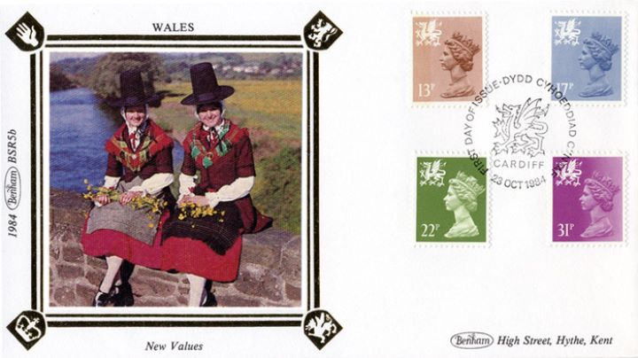 Wales 13p, 17p, 22p, 31p, Traditional Costume