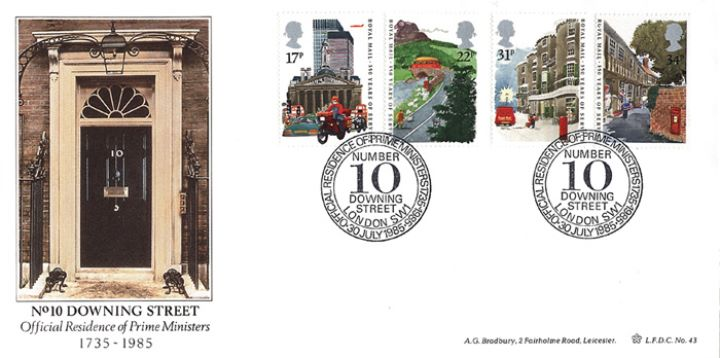 The Royal Mail, 250th Anniversary of No. 10 Downing Street