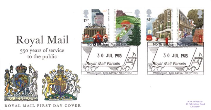 The Royal Mail, Royal Arms