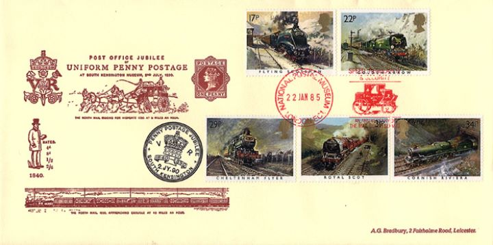Famous Trains, Uniform Penny Postage