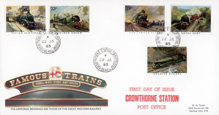 Famous Trains, Armorial Bearings of GWR