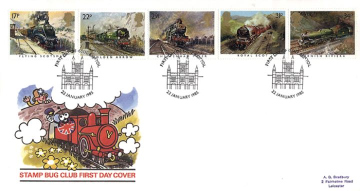 Famous Trains, Stamp Bug Club