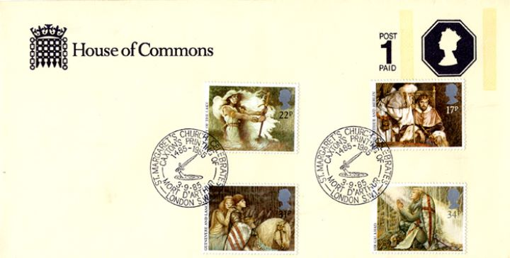 Arthurian Legend, House of Commons Stationery