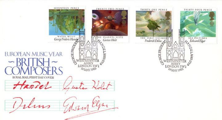 British Composers, Special Handstamps