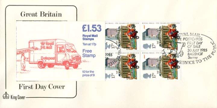 Counter: The Royal Mail: £1.53 Datapost, Datapost Lorry