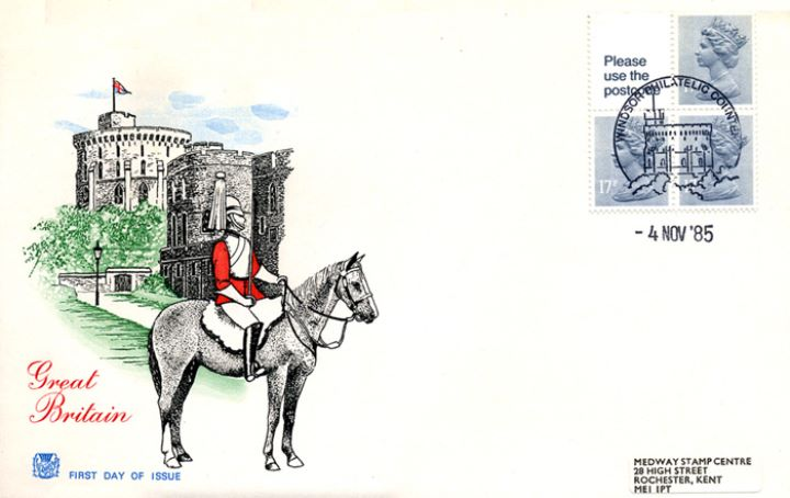 Vending: New Design: 50p Pillar Box (1p Discount), Windsor Castle