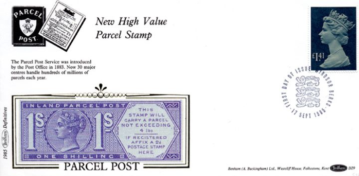Machins: Parcel Post: £1.41, Victorian Parcel Post Stamp