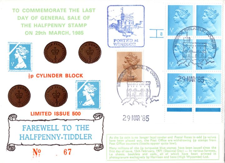 Farewell to the Halfpenny-Tiddler, Last Day of Sale of 1/2p Stamp