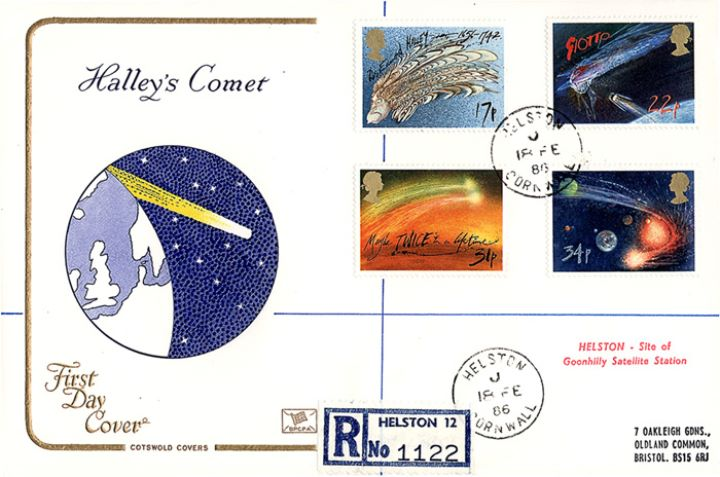 Halley's Comet, Comet over planet Earth