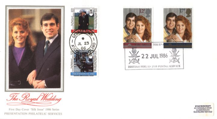 Royal Wedding 1986, South Atlantic - Double Dated covers