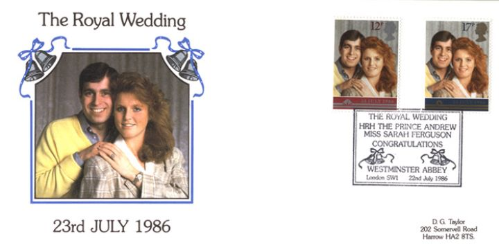 Royal Wedding 1986, Official Portrait for Stamp Issue