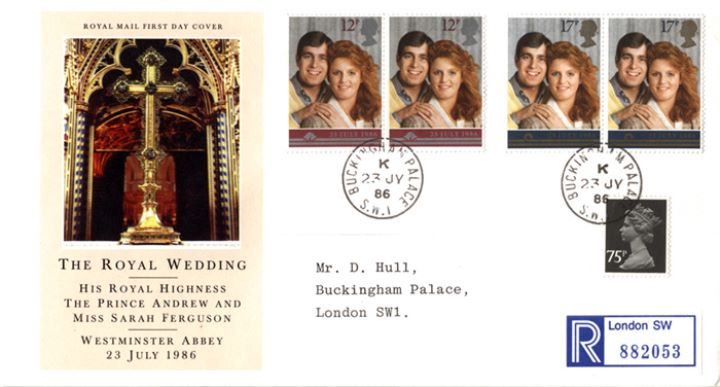 Royal Wedding 1986, Posted at the Palace on Wedding Day