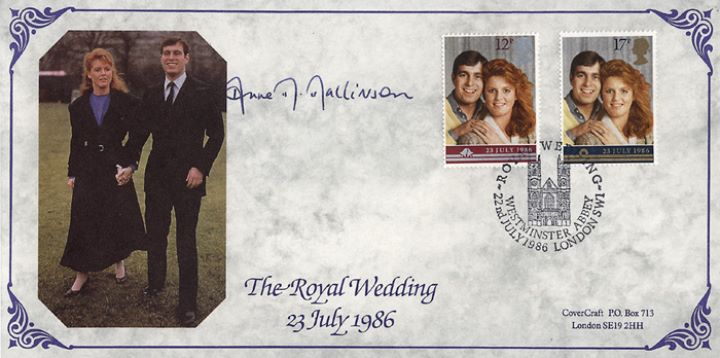 Royal Wedding 1986, Lady Mayoress of London signed