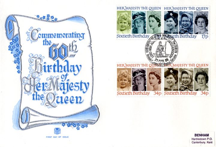 Queen's 60th Birthday, Decorative Scroll