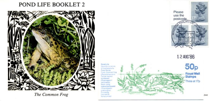 Vending: New Design: 50p Pond Life 2 (Frog) no underprint, The Common Frog