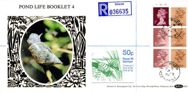 Vending: New Design: 50p Pond Life 4 (Snails), Snail