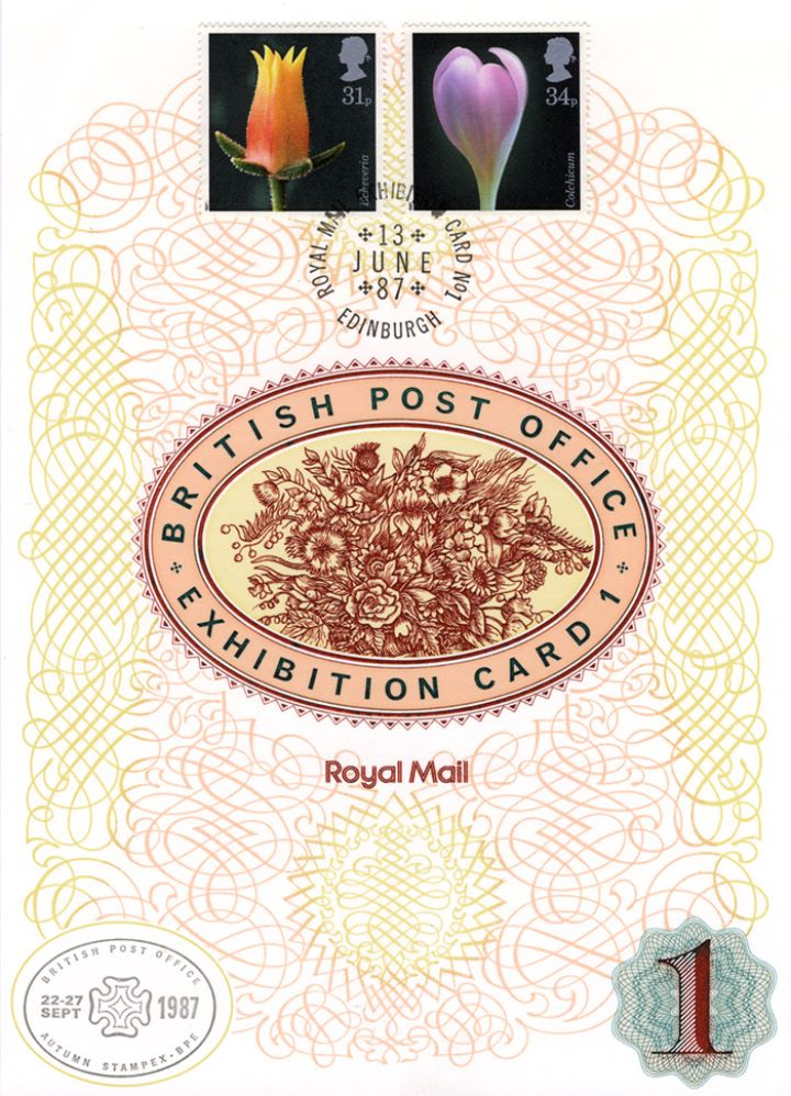 Flowers Stamps, Exhibition Card 1